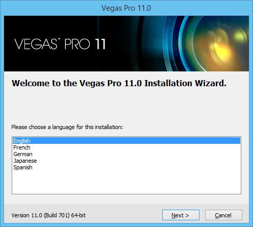 установка Vegas Pro 11